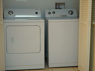 Full size washer & dryer in the unit