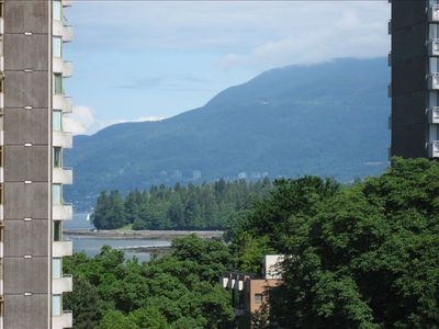 View of Stanley Park and English Bay from Balcony