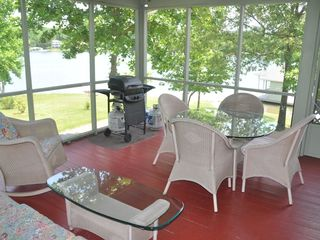 Moneta house photo - Screened-in porch, overlooking lake