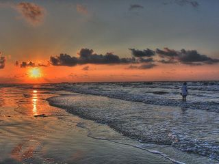 Galveston condo photo - Sunrise on East Beach! What a great wake up call.