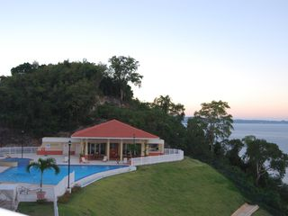 Aguadilla apartment photo - Infinity pool and gazebo area.