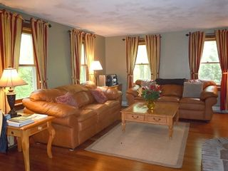 Glen house photo - Updated living room: New bamboo floors and fresh paint!