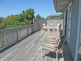 Truro house photo - Wide wrap-around deck facing Cape Cod bay