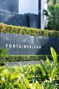 Entrance to Fontainebleau Hotel