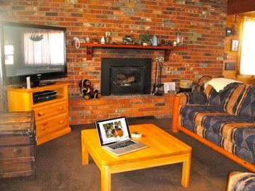 Peter Pan cabin rental - The 'Den' with 50 inch Plasma flat screen TV