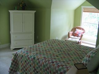 Lake Gaston house photo - Bedroom #3 Queen direct main lake view- satellite HDTV / Full Bathroom