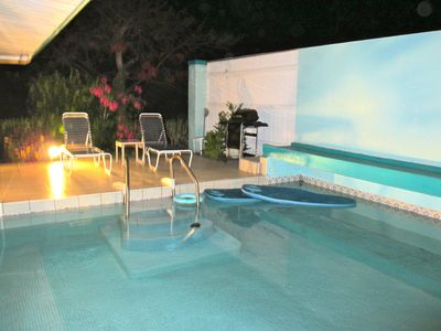 Enjoy warm balmy nights. Play in your own private pool or have a barbecue