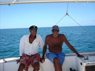 Lou and Glue, the best boat captians around to get you to Buck Island!