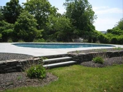 Bluestone Patio/Pool area, very secluded and private