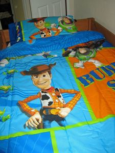 Our bunk room with 4 beds for kids. Choose Toy Story or Fairies Bedding