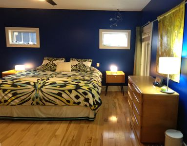 Harbor Springs house rental - Main Floor Master Bedroom. Sleeps 2. 1 King