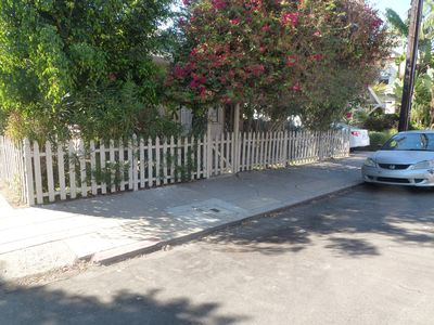 San Diego bungalow rental - Easy street parking; narrow street without much traffic.