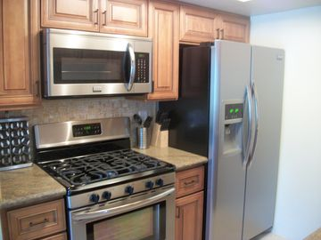 All new countertops, appliances, and kitchenware