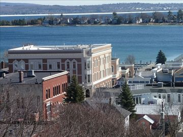 Harbor Springs condo rental - Apartment is 3rd floor corner bay window.Town-center.
