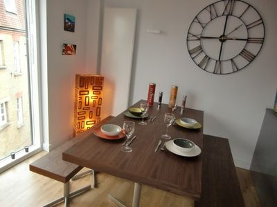 Dining area, china,cutlery and glasses provided