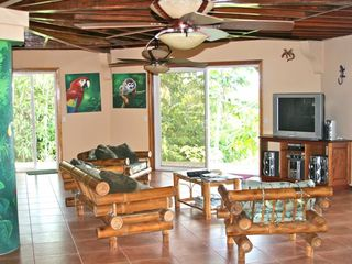 Playa Zancudo house photo - Open Family Room Surrounded by Five Sliding Glass