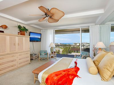 Master Bedroom. Enjoy the morning news with great ocean views.