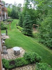 Mont Tremblant condo photo - Lovely garden view from our balcony