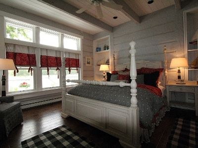 Master bedroom facing king size bed