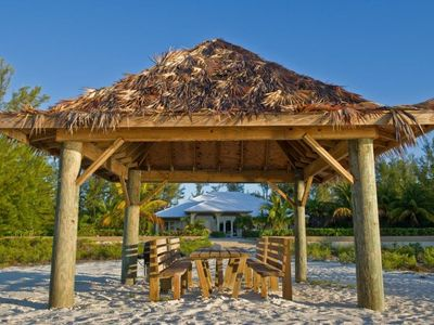 Tiki Hut on the beach so you can relax in the shade