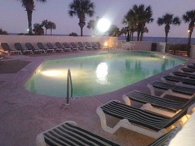 Outdoor Pool area at Full Moon