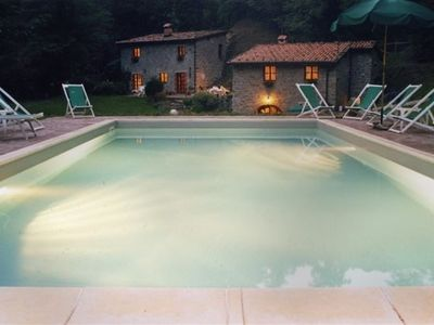 Bagni di Lucca cottage rental - By night