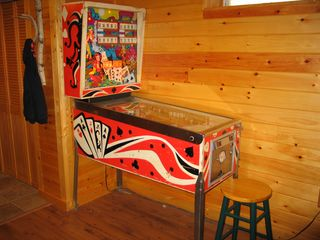 Emerald Lakes house photo - Vintage pinball machine