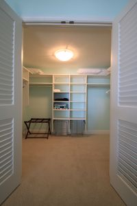 Master bedroom walk-in closet