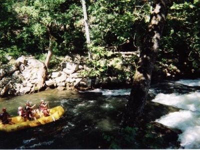Fun for all ages!!! Whitewater rafting on the Nantahala River...