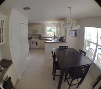 kitchen area with table for 4