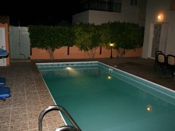 Lucina Villa Pool in Evening