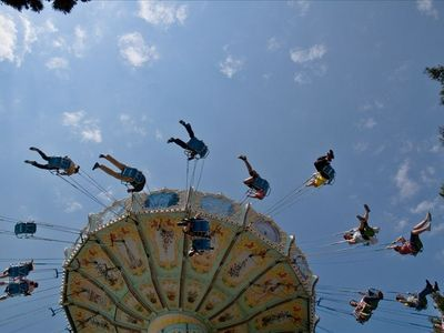 One of the atractions at the Tibidabo Old Themepark