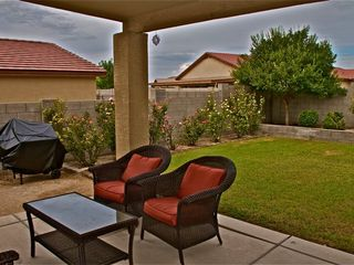 Tucson house photo - Gas Grill and Decorative Outdoor Furniture Enhance the Outdoor Experience
