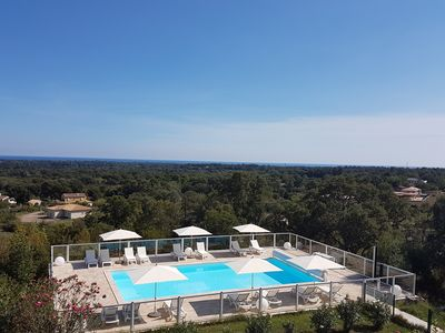 BIG VILLA with large heated pool and sauna. SEA 5KMS - 3-room apartment is upstairs.