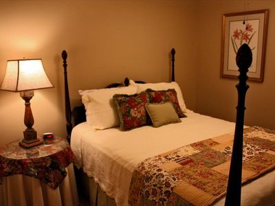Blowing Rock cottage rental - Lovely Guest room with queen bed.