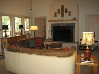 Pendaries house photo - Living room with fireplace