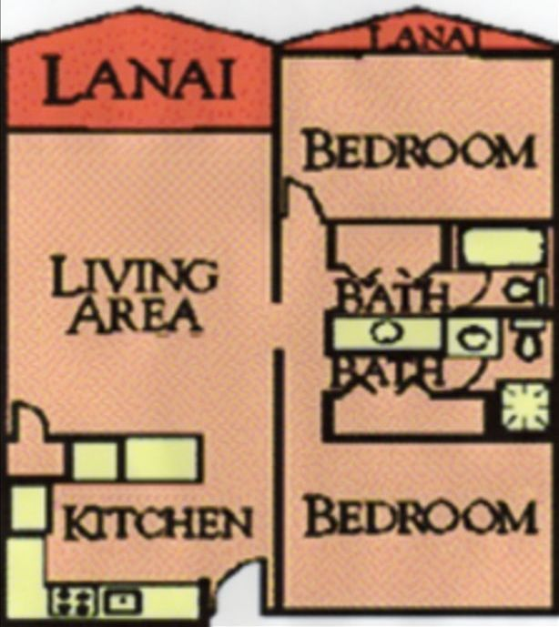 Floorplan of the Condo Which Directly Fronts the Ocean
