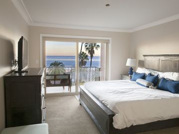 Santa Barbara condo rental - Master Bedroom | Spectacular, unobstructed Ocean Views