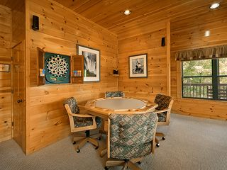 Pigeon Forge cabin photo - Poker/Game Table and Electronic Darts! Tons of Board Games and The View!!