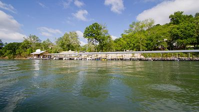 Fall Creek Marina & dock on Lake Taneycomo.