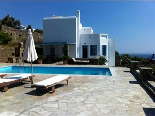 Andros villa photo - Side view of the house from the pool area