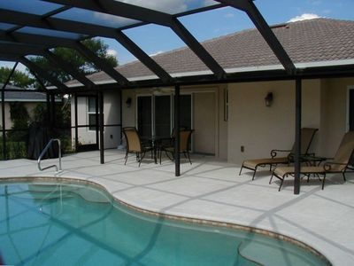 Lanai and Pool with Furniture and Barbeque
