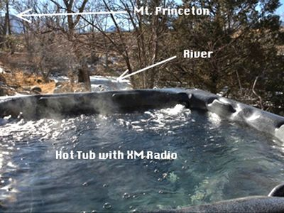 Large Spa on the river !! soak away the muscle aches! NO XM - regular radio
