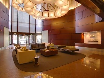 The lobby area at 1100 Wilshire