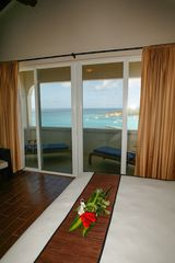 Anguilla villa photo - Master Bedroom features great views and master bath suite with outdoor shower