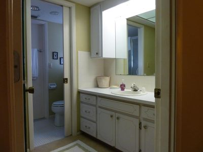 Plantation house rental - Master Bathroom. The walk in closet is just to the left.