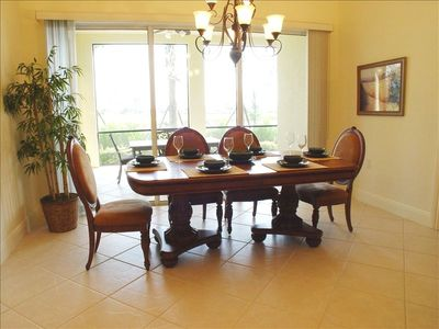 Dine in class with friends and family in the elegant Dining Room