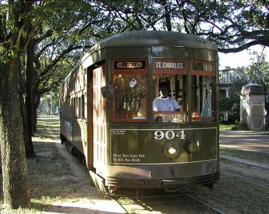 St. Charles Street Car is a Three Block Walk