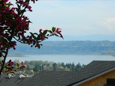 Your view of the Columbia River from your suite and hot tub!