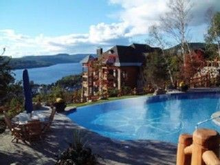 Mont Tremblant condo photo - Pool with a view